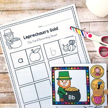 St Patrick's Day Alphabet Clip Cards for Pre-K