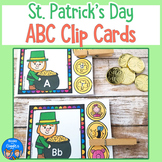 St Patrick's Day Alphabet Clip Cards for Pre-K