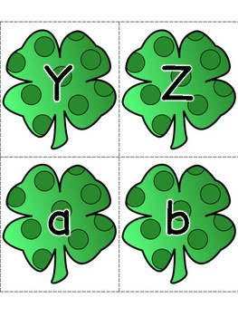 St. Patrick's Day Alphabet Flashcards
