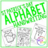 St Patrick's Day Alphabet Handwriting Booklet - PRE-K to 2nd Grade