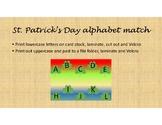 St. Patrick's Day Alphabet Match