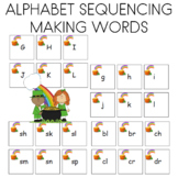 St. Patrick's Day Alphabet Sequencing and Matching Cards Literacy Center