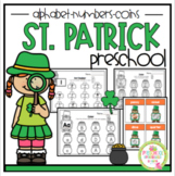 "St. Patrick's Day Alphabet-Math-and Coin Printable ""No Prep"""