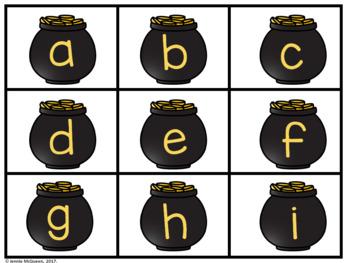 St. Patrick's Day Alphabet Phonics Game EDITABLE