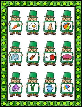 File Folder Game: St. Patrick's Day Alphabet Sounds
