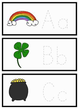 St. Patrick's Day Alphabet Trace