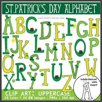 St.Patrick's Day Alphabet (Uppercase + Punctuations)