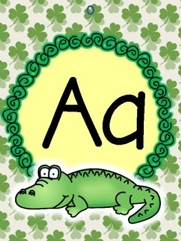 St. Patrick's Day Alphabet and Number Posters Thematic Room Decor