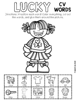 St. Patrick's Day Apraxia: Snip and Stick!