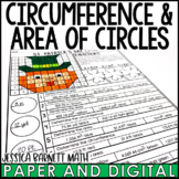 St. Patrick's Day Math Activity: Area and Circumference of