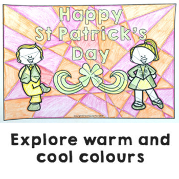 St Patrick's Day Art Activity warm and cool colours