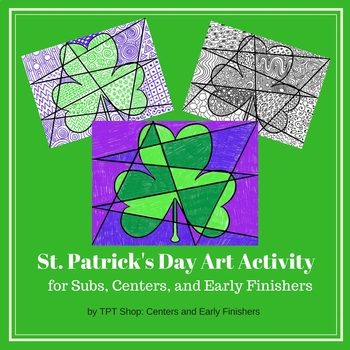 St. Patrick's Day - Art Activity for Centers, Subs, and Early Finishers
