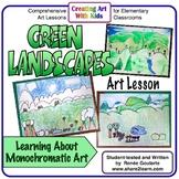 St. Patrick's Day Art Lesson - Green Landscapes