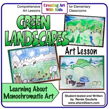 St. Patrick's Day Art Lesson - Green Landscapes