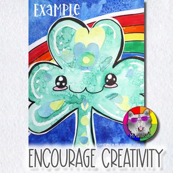 St. Patrick's Day Art Project, Cute Shamrock