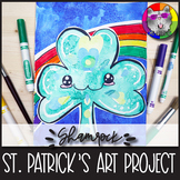 St. Patrick's Day Art Lesson, Cute Shamrock Art Project