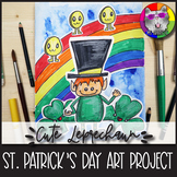 St. Patrick's Day Art Lesson, Leprechaun and Friends Art Project