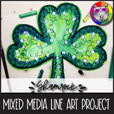St. Patrick's Day Art Lesson, Shamrock Line Art Project