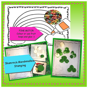 St. Patrick's Day - Art, Science, Math, Fine Motor, Board Game included!