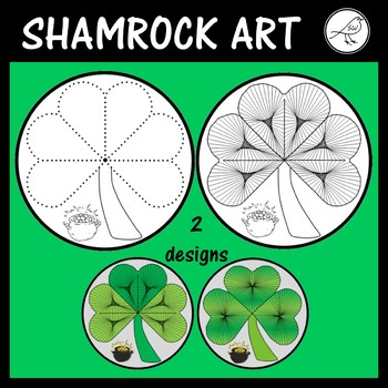 St Patrick's Day Art - Shamrock