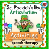 St. Patrick's Day Articulation Activities for Speech Therapy!