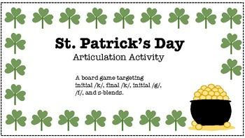 St. Patrick's Day Articulation Activity