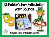 St. Patrick's Day Articulation: Early Sounds for Speech Therapy