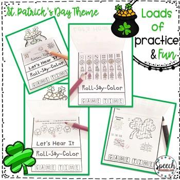 St. Patrick's Day Articulation Fun Flips - Activity Book