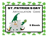 St. Patrick's Day Articulation Game: S Blends