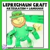 St. Patrick's Day Articulation and Language Leprechaun Cra