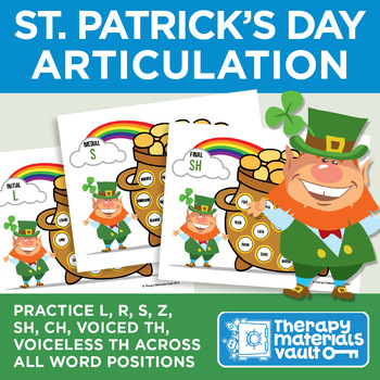 St. Patrick's Day Articulation: Practice Late 8 Sounds Across All Word Positions