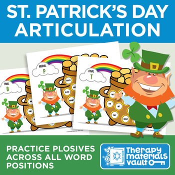 St. Patrick's Day Articulation: Practice Plosives Across All Word Positions