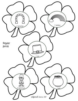 St. Patrick's Day Articulation and Language Shamrock Wreath