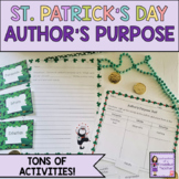 St. Patrick's Day Reading: Author's Purpose Activities