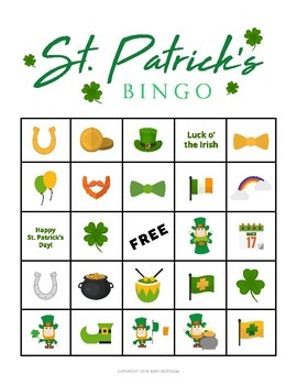 image relating to St Patrick's Day Bingo Printable called St. Patricks Working day BINGO Activity