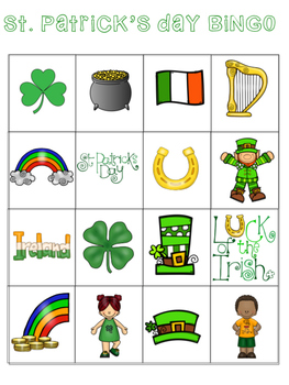 St. Patrick's Day BINGO FREEBIE