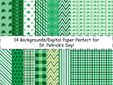 St. Patrick's Day Backgrounds/Digital Paper