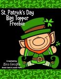 St. Patrick's Day Bag Topper Freebie