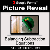 St. Patrick's Day: Balancing Subtraction Equations - Googl