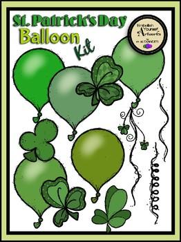 St. Patrick's Day Balloon Kit Clipart