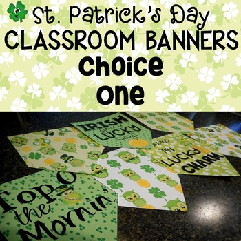 St. Patrick's Day Banner Set for the Classroom