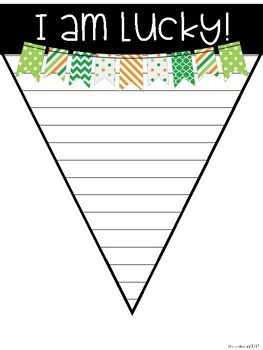 St. Patrick's Day Banner Writing Activity