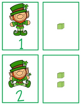 St. Patrick's Day Base Ten Number Match