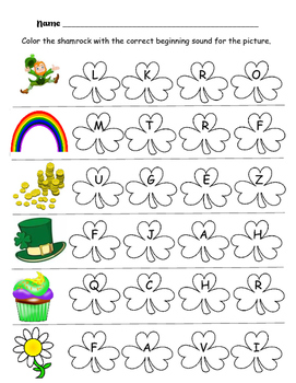 St. Patrick's Day Beginning Sounds (March)