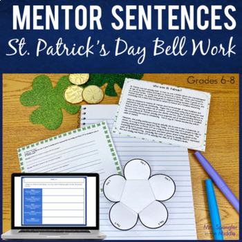 St. Patrick's Day Bell Work / Bell Ringers ~ Mentor Sentences for Middle School!