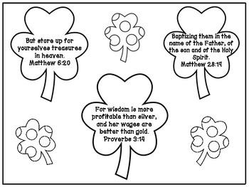 St. Patrick\'s Day Bible Verse Memorization Coloring Page