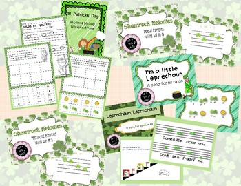 St. Patrick's Day Big BUNDLE of 24 activities for rhythm, melody & more