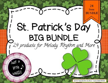 St. Patrick's Day Big BUNDLE of 24 activities for rhythm,