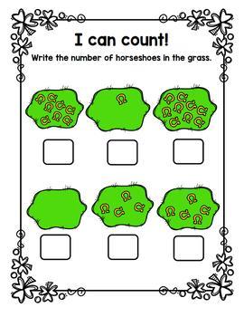 St. Patrick's Day Bilingual Counting / Paquete de contar Día de San Patricio