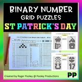 St Patrick's Day Binary Number 8x8 Grid Puzzles - 8 puzzles, no Prep, answers